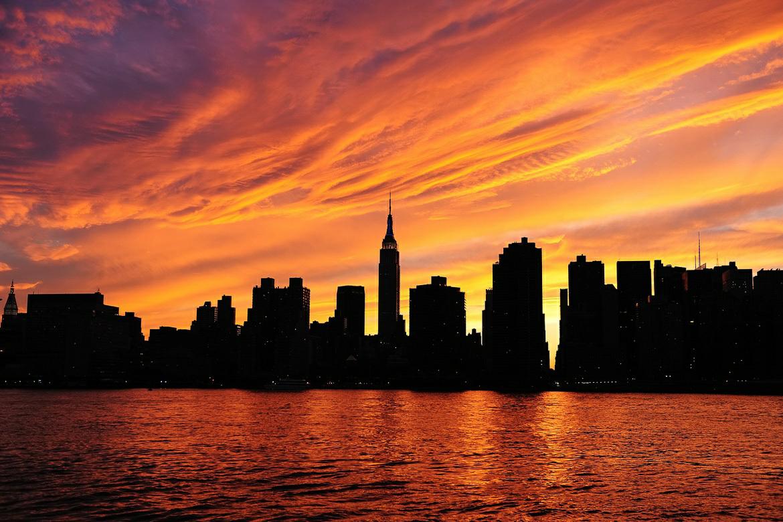 Orange Aesthetic New York City Manhattan Sunset City Upstate Ny Travel
