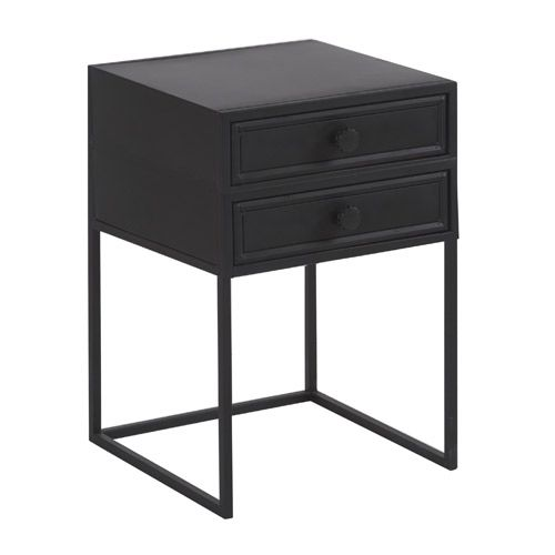 chevet en métal noir 2 tiroirs york hanjel | loft | pinterest