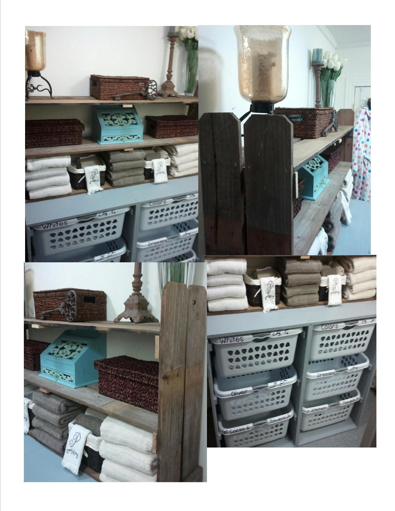 Laundry Organization & Bathroom Shelving Shelves Are Made From Old