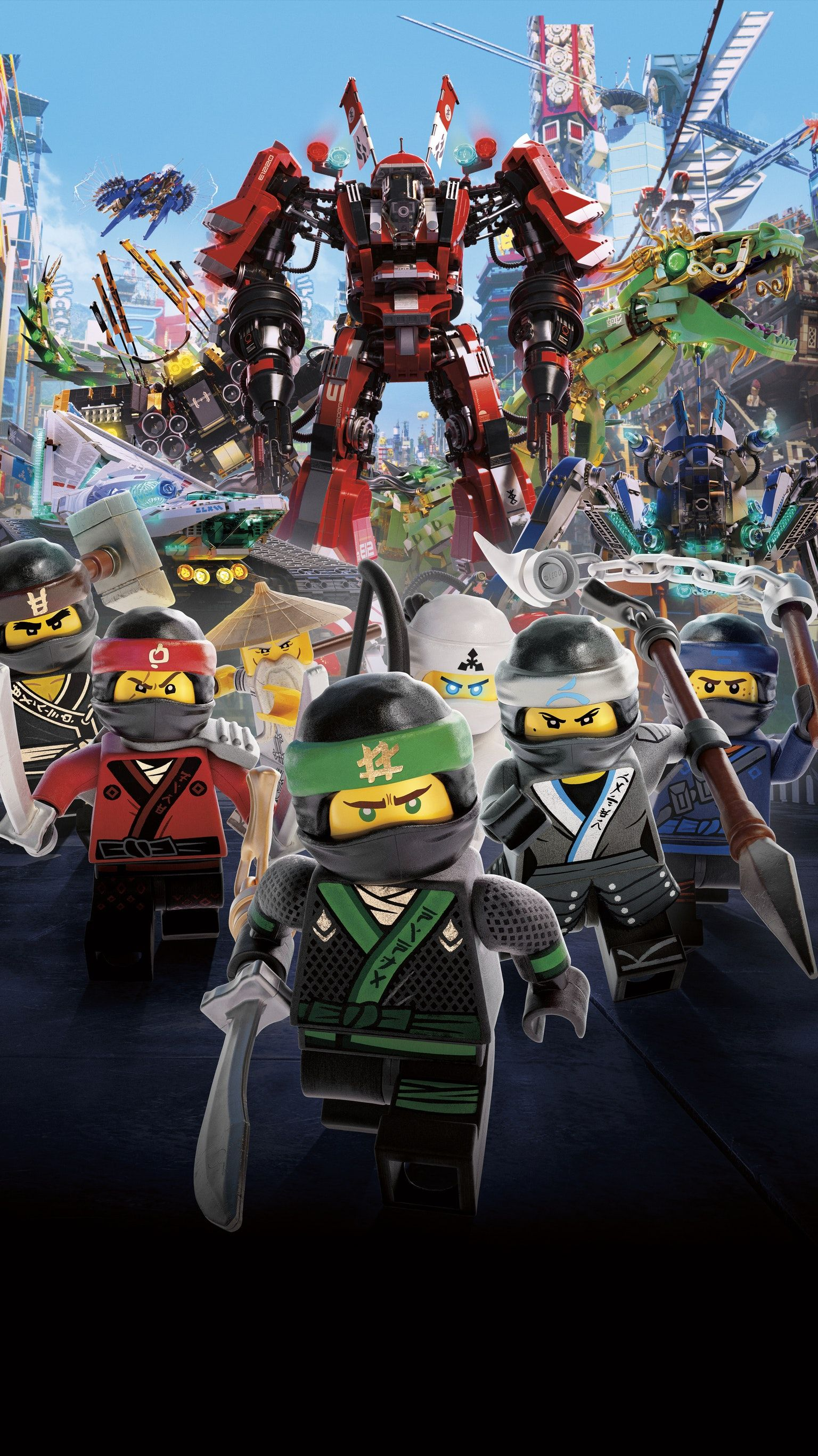 The LEGO Ninjago Movie 2017 Phone Wallpaper