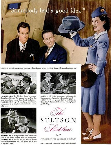 Hurrah, another round of Let's Humiliate the Passengers! The category: 1940s Men's Hats.