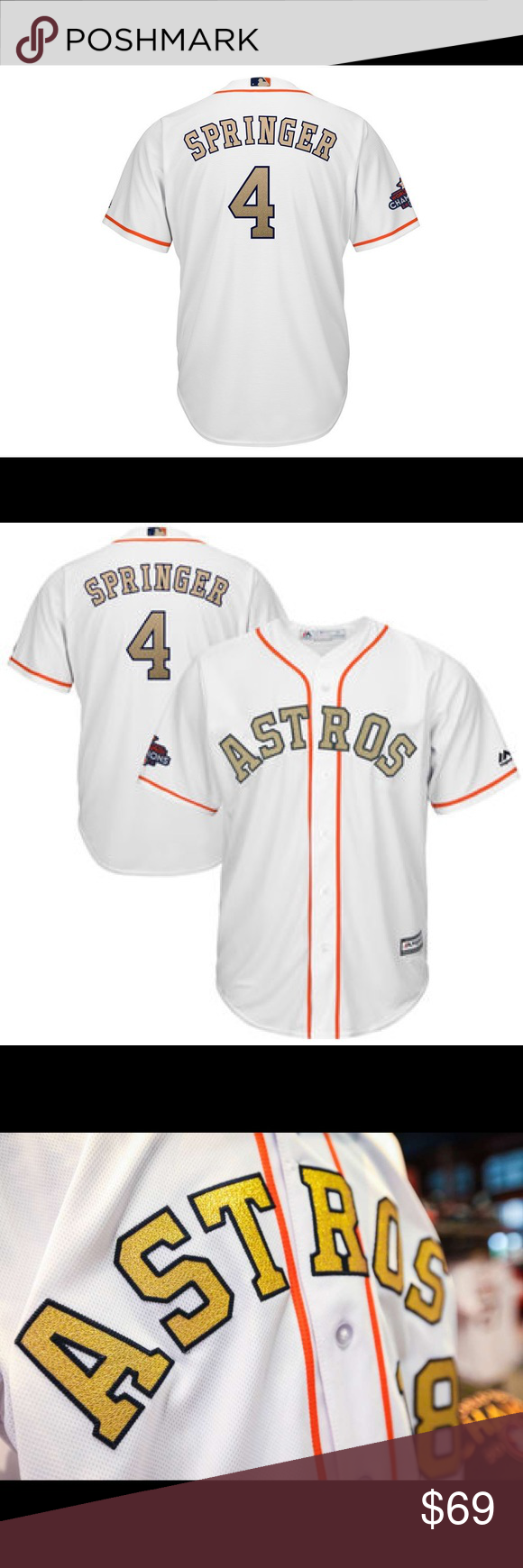 quality design 498dc e9622 COMING SOON* George Springer Astros Gold Jerseys COMING SOON ...