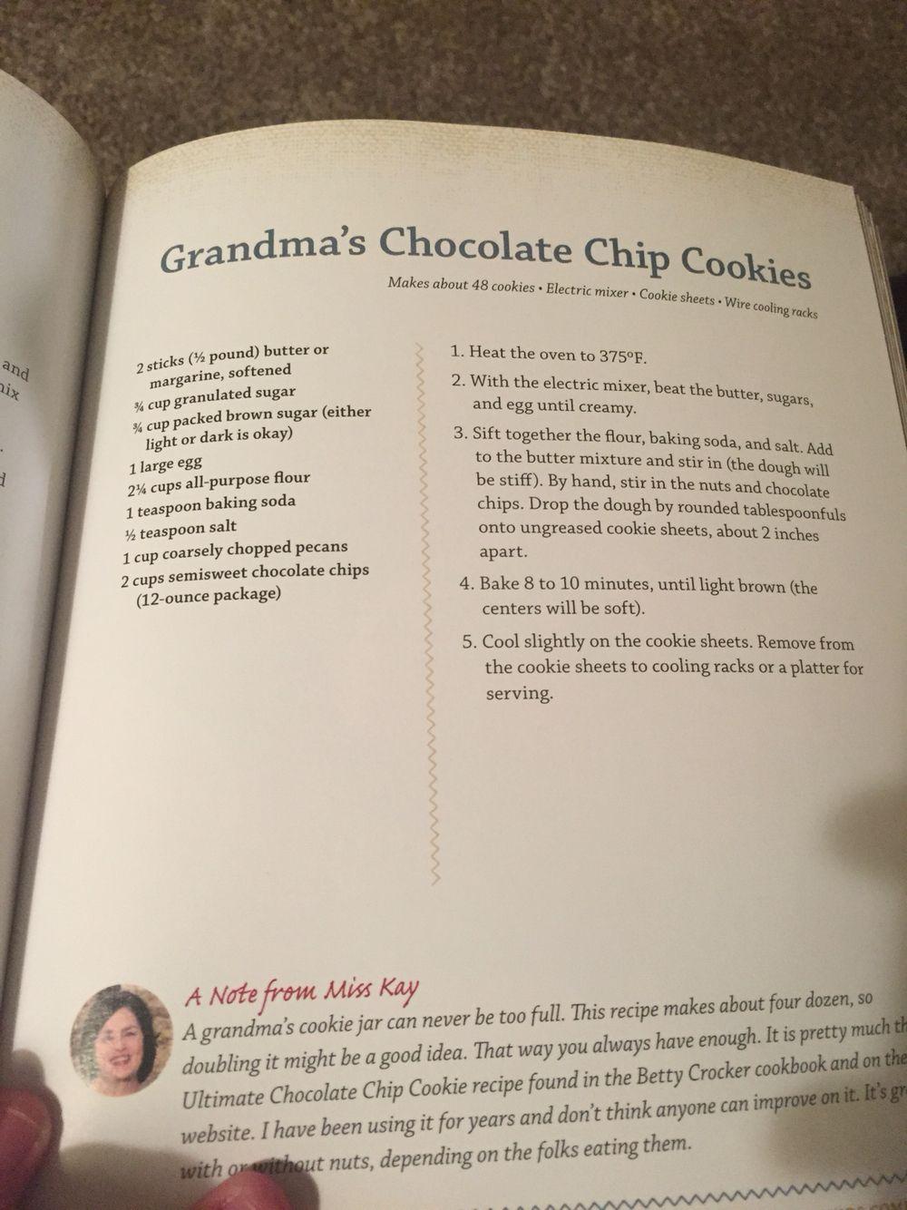 Grandma\'s Chocolate Chip Homemade Cookies--Miss Kay\'s Duck Kitchen ...