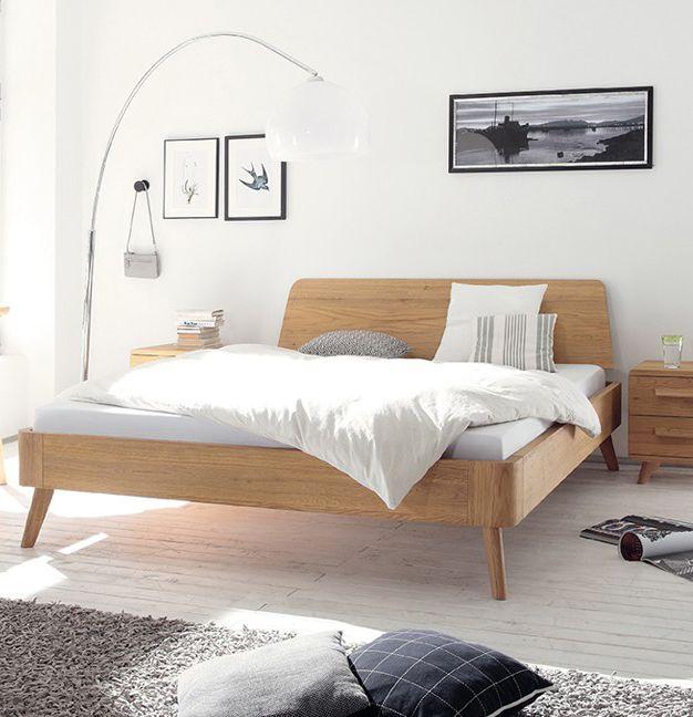 Massivholzbett Oak-Bianco In massiver Eiche bianco präsentiert - schlafzimmer eiche