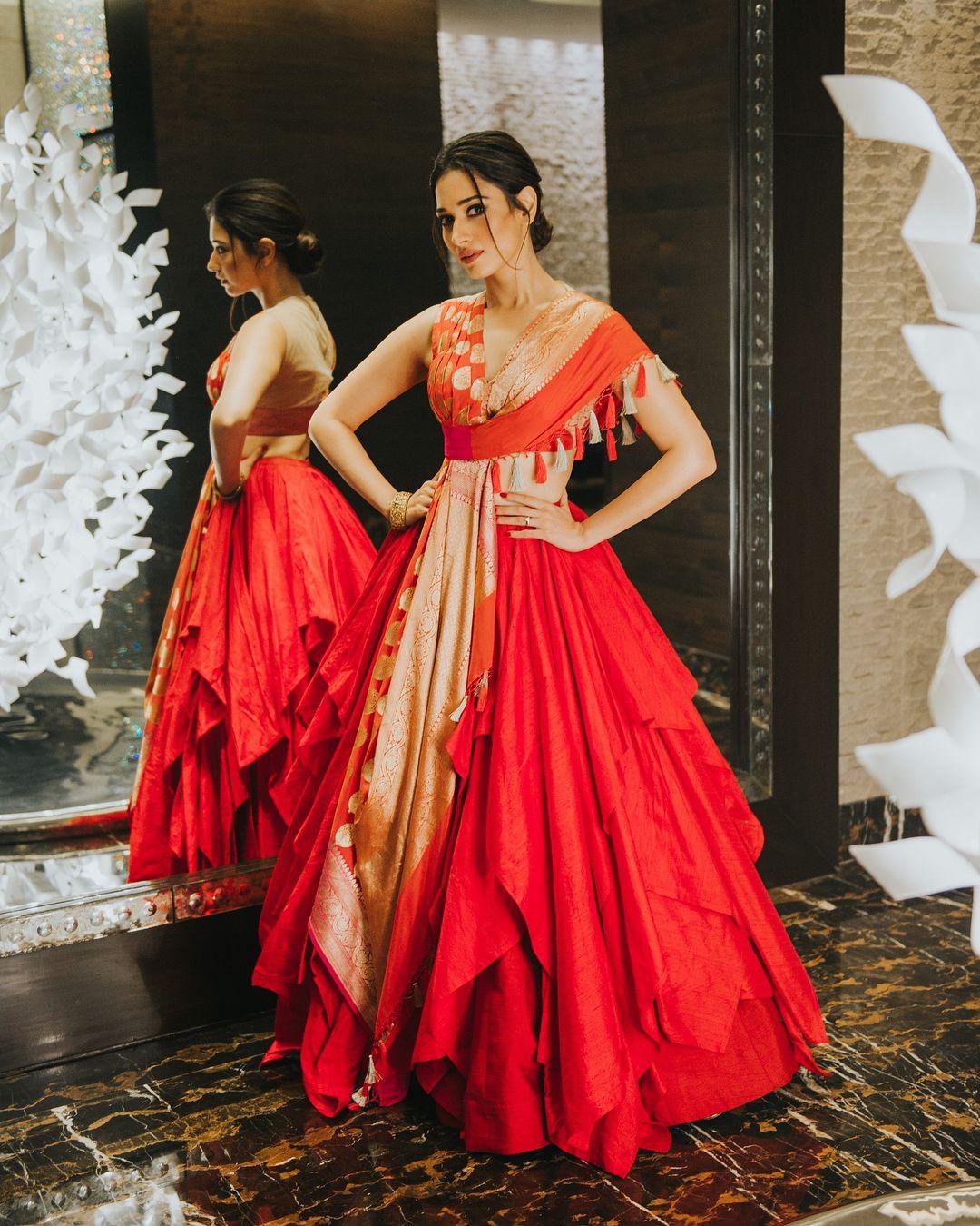 All Set For Santoshamawards In Hyderabad Wearing Shantanunikhil Styled By Sanjanabatra Make Indian Gowns Dresses Indian Bridal Dress Designer Dresses Indian