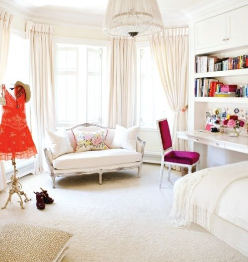 Lovely blush pink bedroom