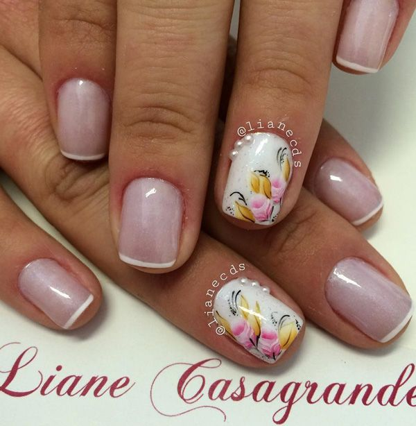 35 French Nail Art Ideas | Flora design, Floral designs and Flora