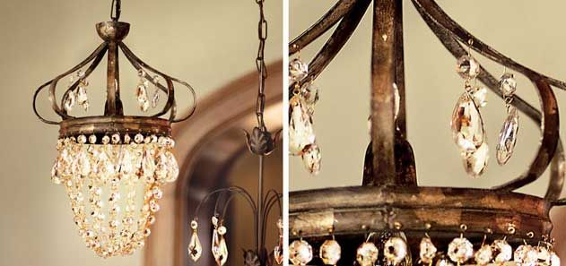 Rustic crystal chandelierso pirtty Custom Home Vision Board