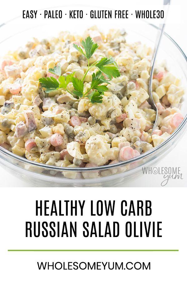 Healthy Olivie Russian Olivier Salad Recipe
