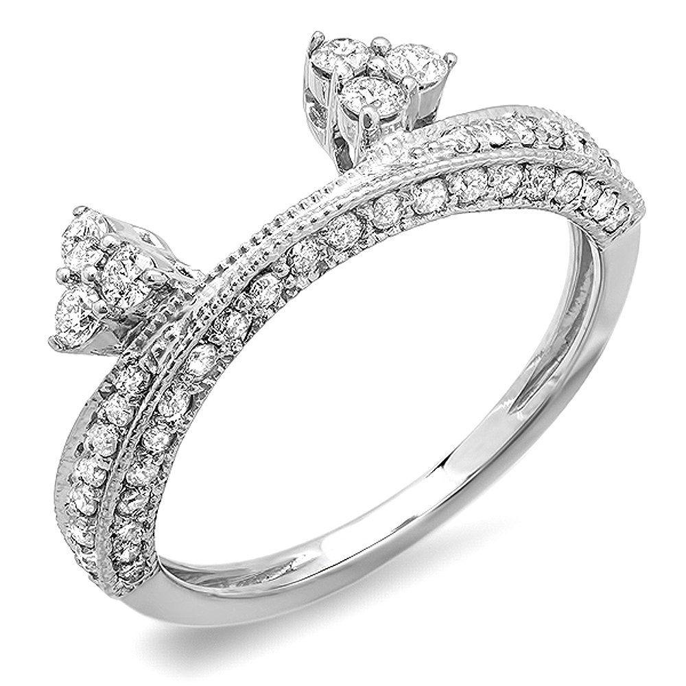 0.60 Carat (ctw) 14k White Gold Round Diamond