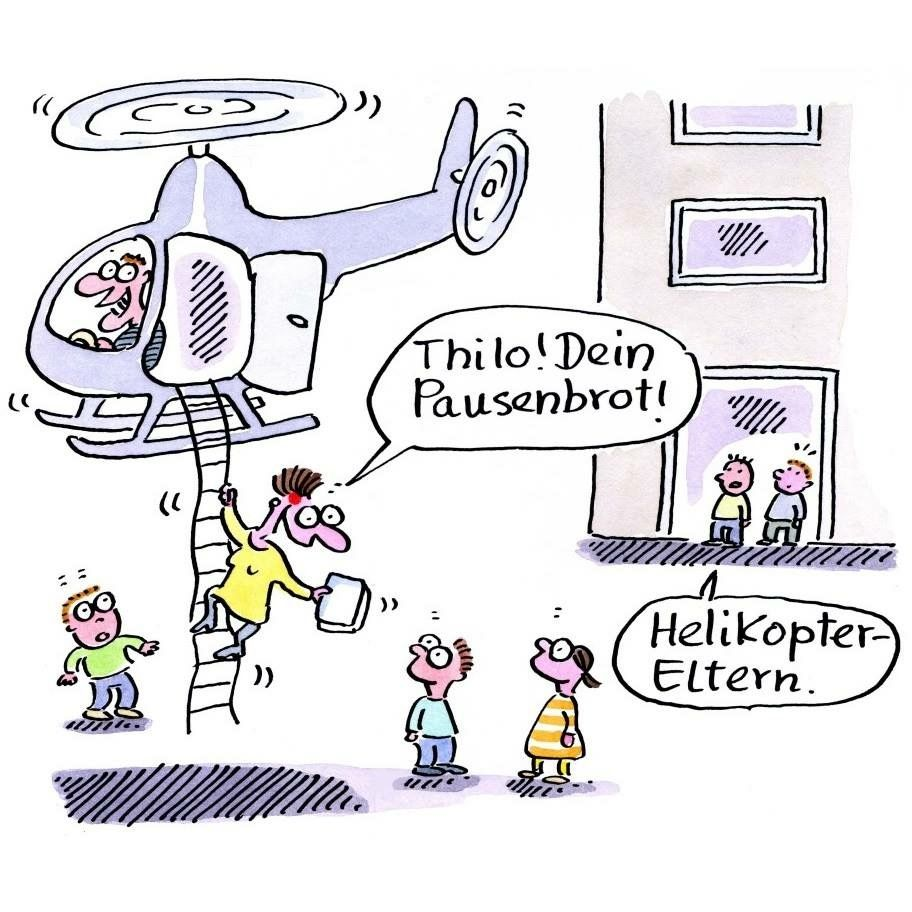 Helikopter Eltern | Cartoon witze