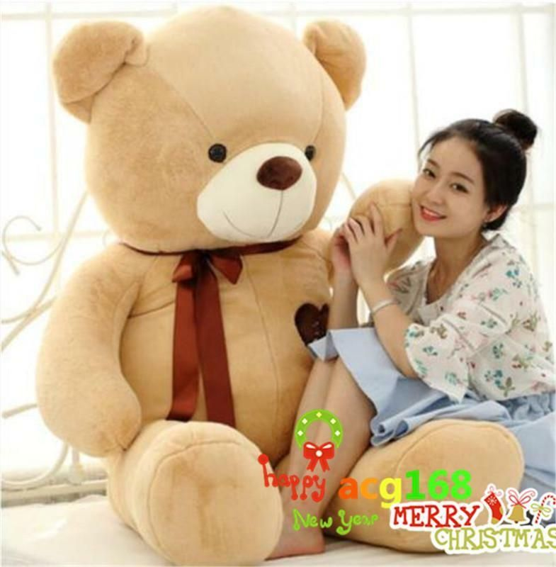 63'' Giant Brown Teddy Bear Plush Animal Pillow Bed Xmas 6KG Stuffed Doll Gifts #affilink #bearbedpillowdolls