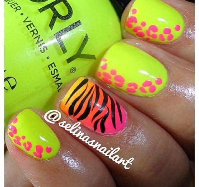 Animal Print Fluor   Mani\'s and Pedi\'s   Pinterest   Animales ...