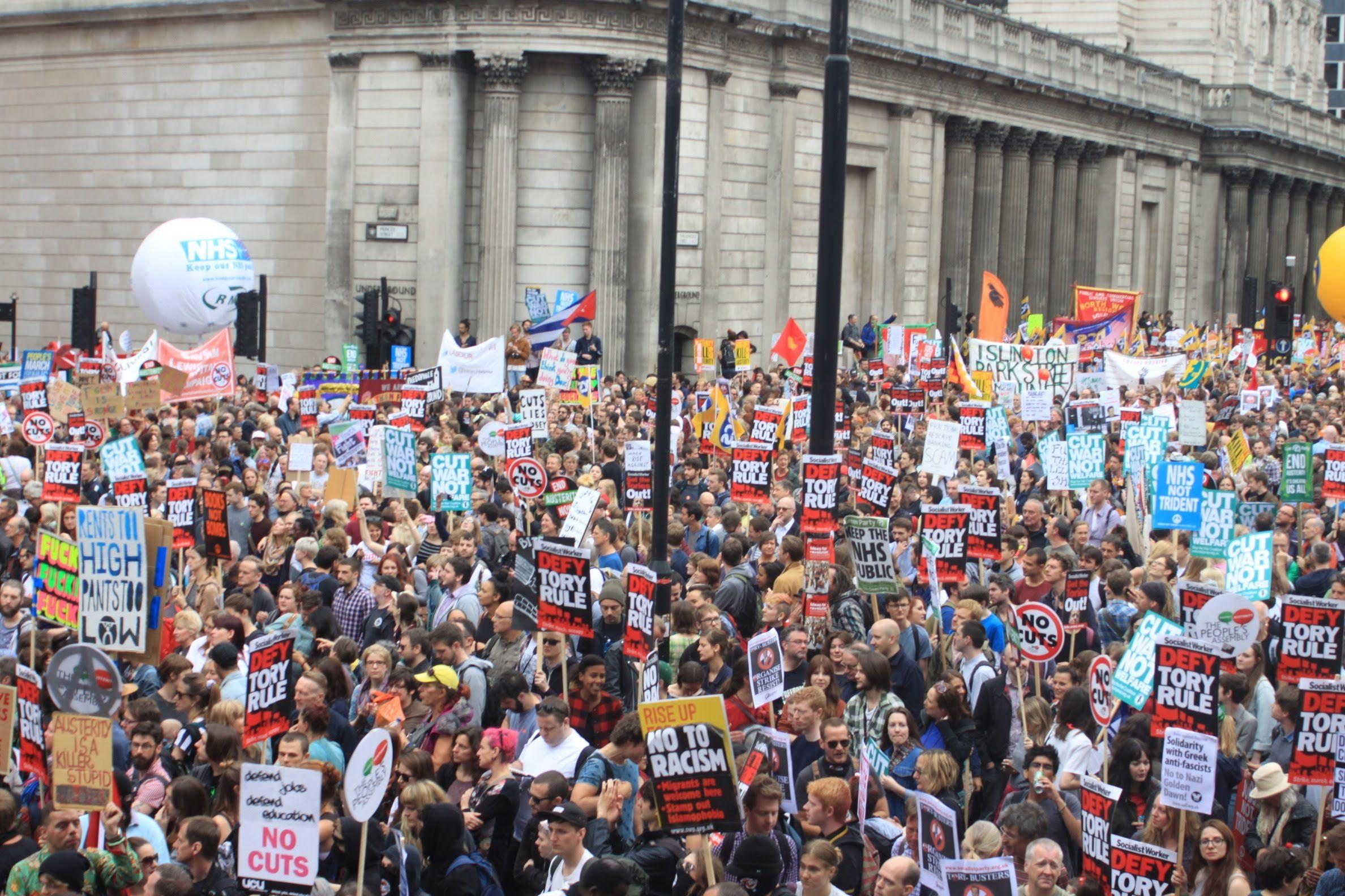 March Against Austerity London 250 000 People London Protest London London Street