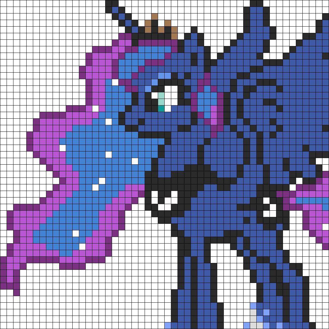 Princess Luna Perler Beads Idea Pixel Crochet Pony Bead