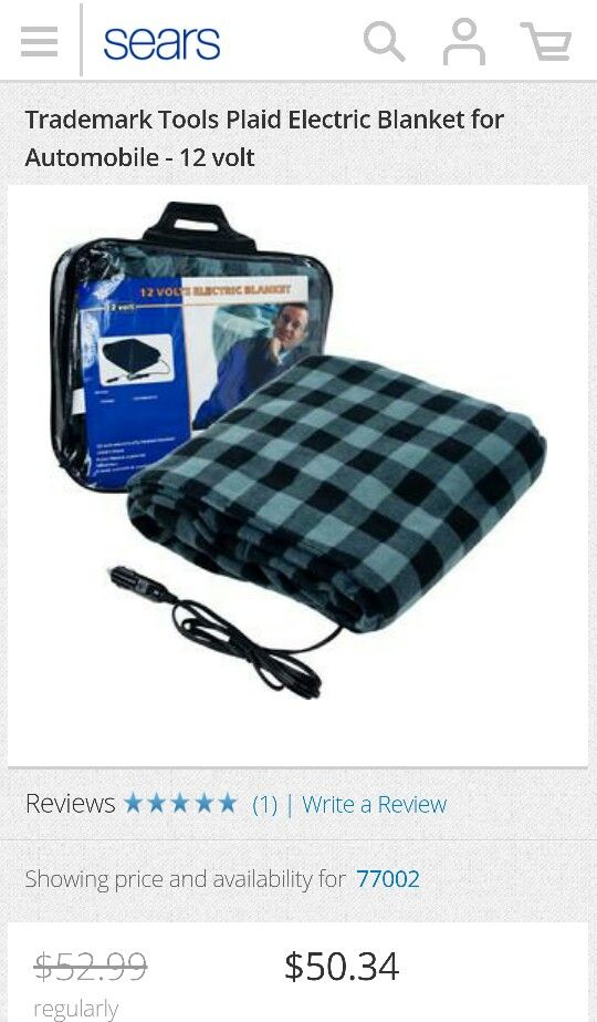 12 Volt Electric Blanket Sears Com Truck Driver Gifts Gifts For Truckers