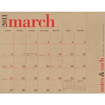 paper source 2011 academic wall calendar (we can make into desk