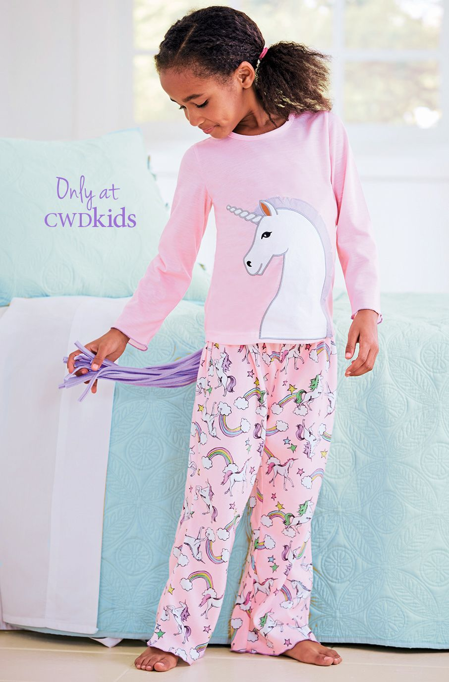 ed1b6a2742 From CWDkids  Unicorn Print Gown   Tail Pajamas. Find this Pin and more on  Kids- clothes ...