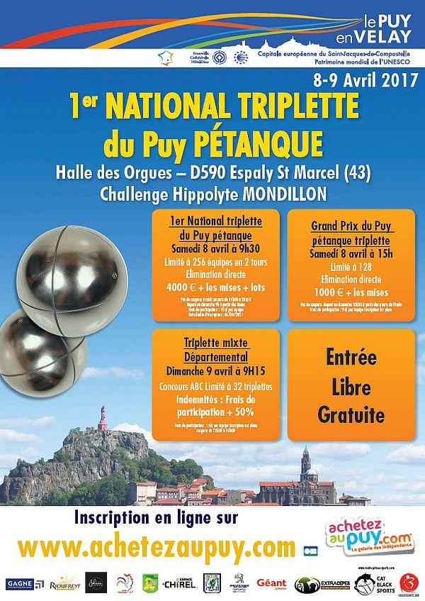 1er National Du Puy Petanque Lire Petanque Nationale Puy