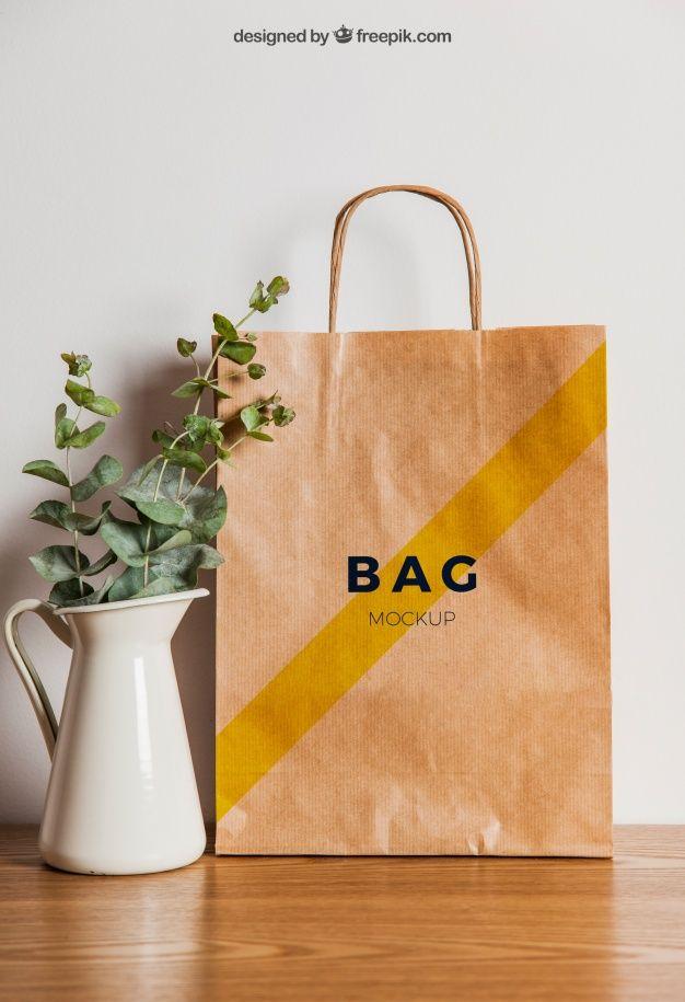Download Paper Bag Mockup And Flower Pot Free Psd Free Psd Freepik Freepsd Flower Paper Bag Design Bag Mockup Paper Bag