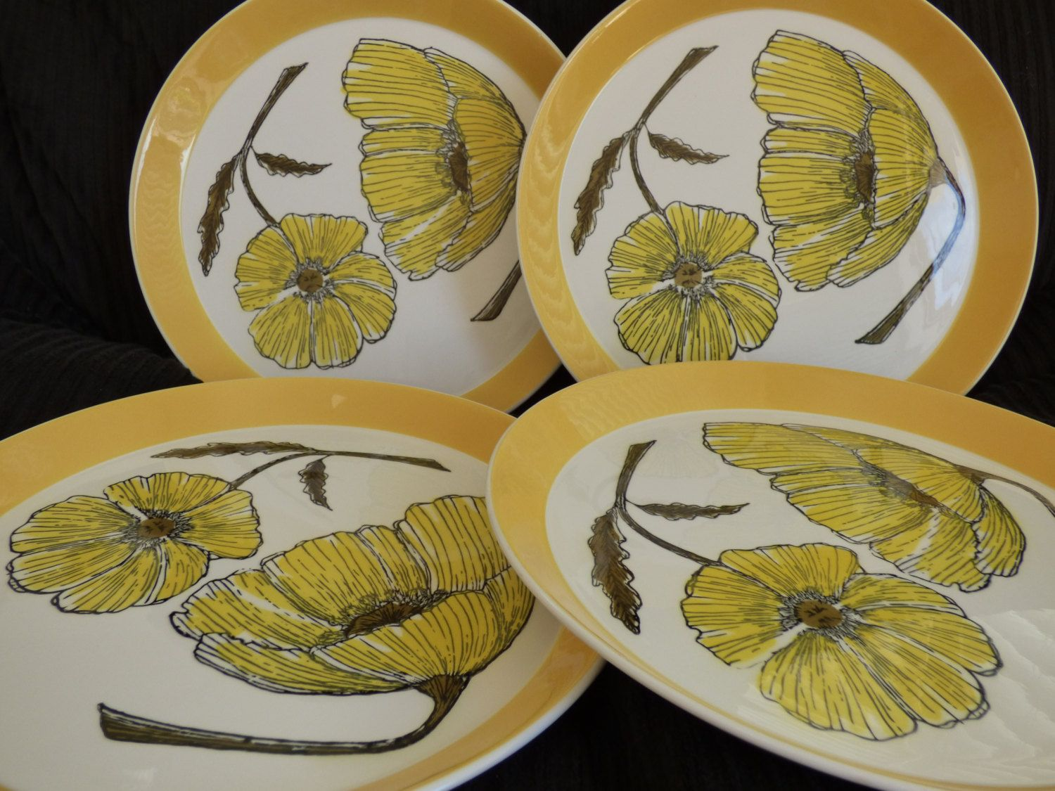 Mikasa Duplex Duet - Ben Seibel - 4 Dinner Plates - Superb Condition - No Damages - Bright Finish - Suitable for Gifting - Replacements by ChicAvantGarde on Etsy