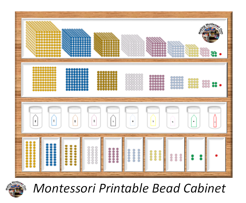 Making Montessori Ours Education Printables Montessori Bead Cabinet