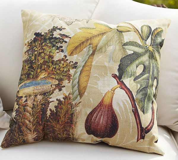 Comfortable Mediterranean Fruit Decoupage Outdoor Pillows