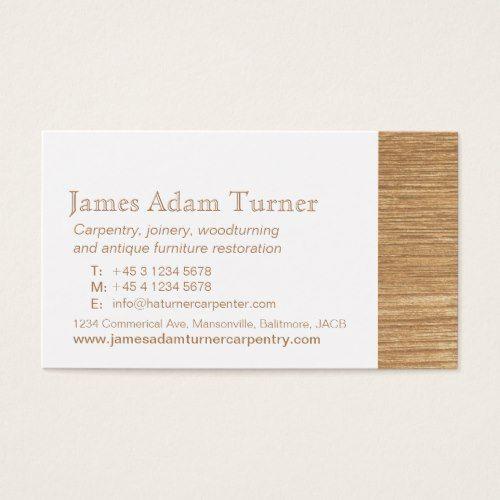 Carpentry Carpenter Wood Business Card Zazzle Com Wood Business Cards Wood Turning Wood Diy