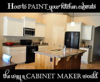 All Things Thrifty Home Accessories and Decor: How to paint your kitchen cabinets {professionally}