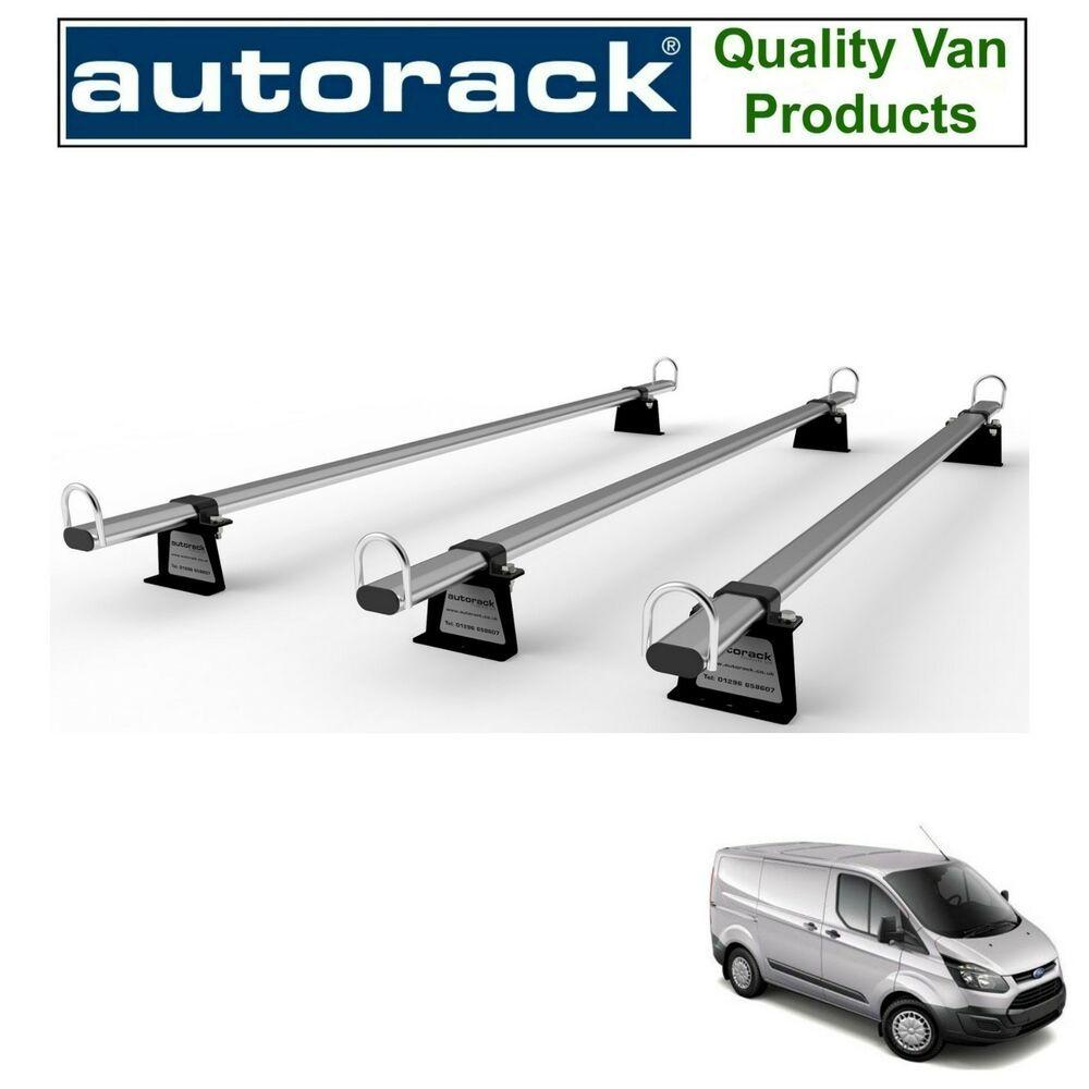 Van Roof Rack 3 bar kit Ford Transit Low Roof 2001-2013 Heavy Duty MegaBars