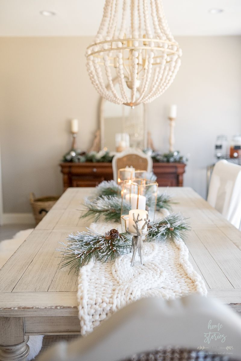 Winter White Christmas Dining Room Christmas Dining Room Decor Christmas Dining Decor Christmas Dining Table Decor