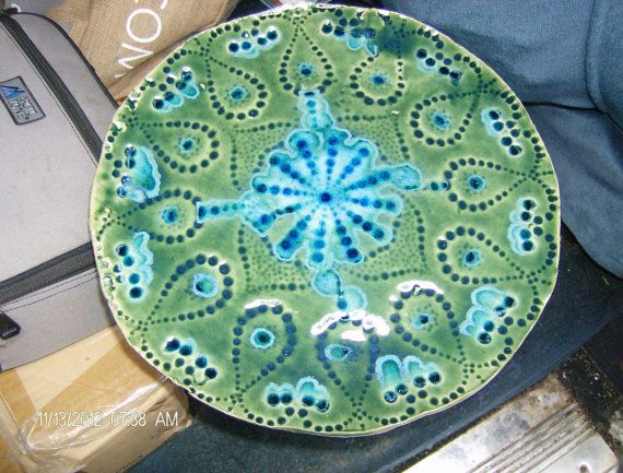 Green and Blue Decorative Plate. & Green and Blue Decorative Plate............I want these! | Spruce up ...