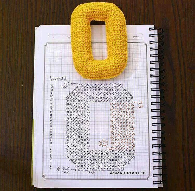 Amigurumi letter O   amigurumis   Pinterest   Buchstaben, Buchstaben ...