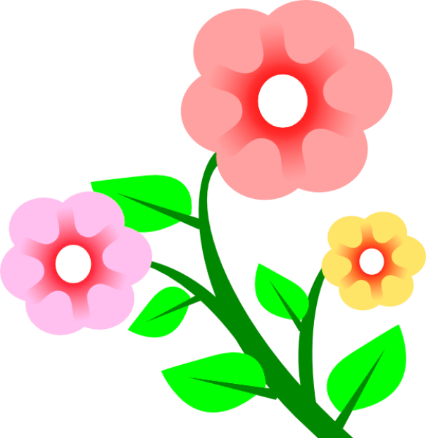Gambar Bunga Kartun Warna Pink Flower Images Free Art Flowers Flower Art Clip