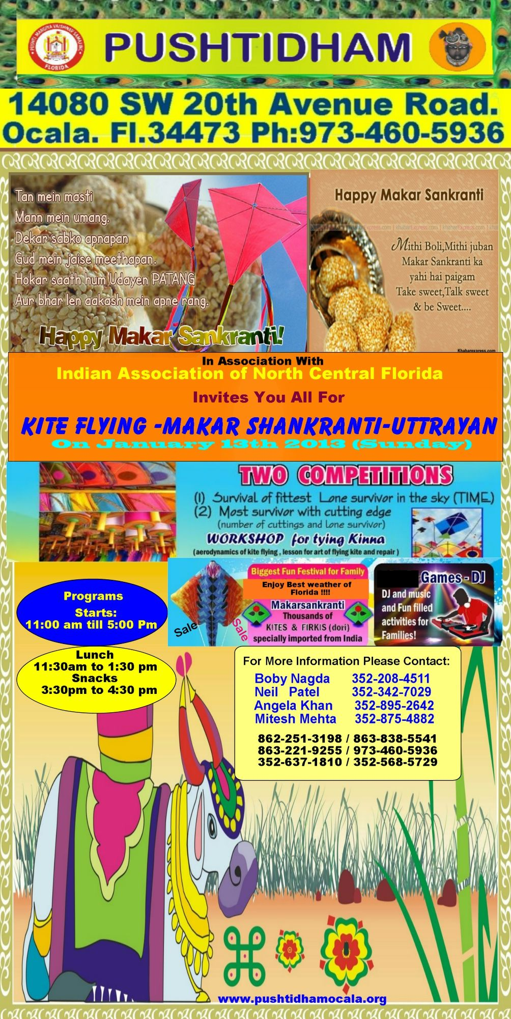 Join us for Kite flying  on 13th January 2013 from 11:00am