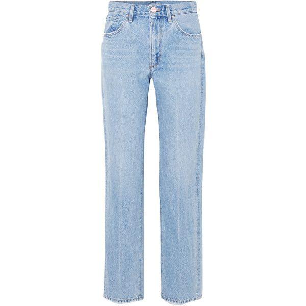 The Classic Fit High-rise Straight-leg Jeans - Light denim Gold Sign tfc29kQ7D
