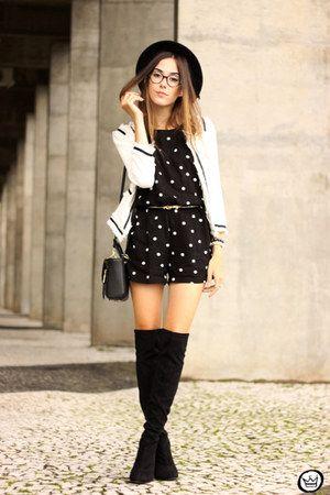 4c55abeec66 black Dafiti romper - white romwe jacket