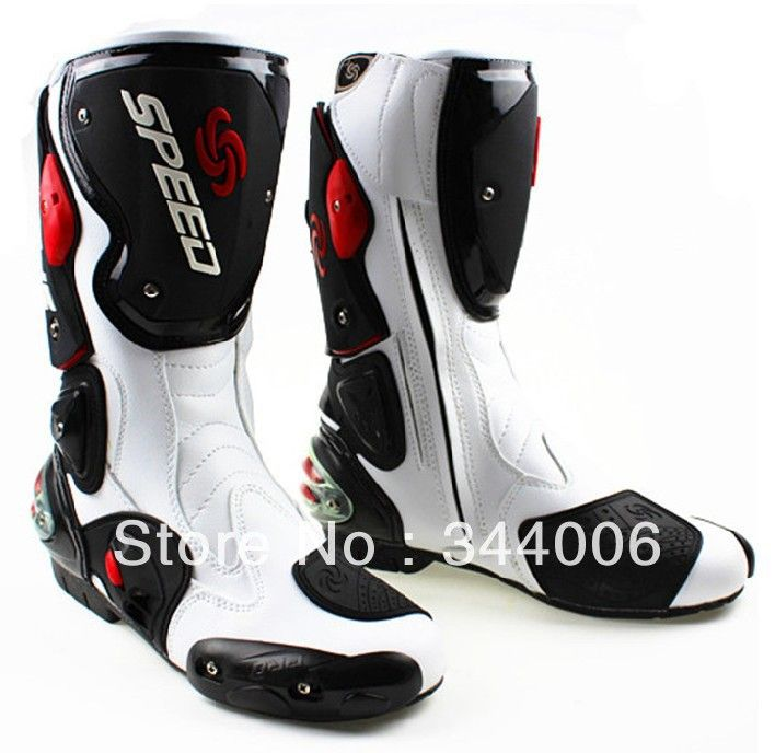 New Cool Boots High Quality White Motorcycle Boots Pro Biker Speed Racing Boots Motorbike Boots Racing Boots Mens Motorcycle Boots Dirt Bike Boots