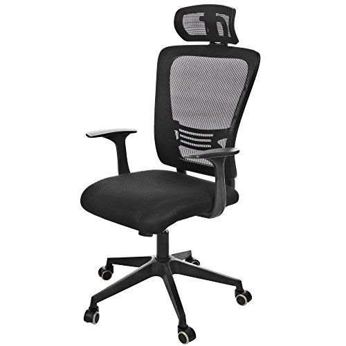 homdox ergonomic mesh office chair with mesh padded seat dual wheel casters 360 degree swivel high