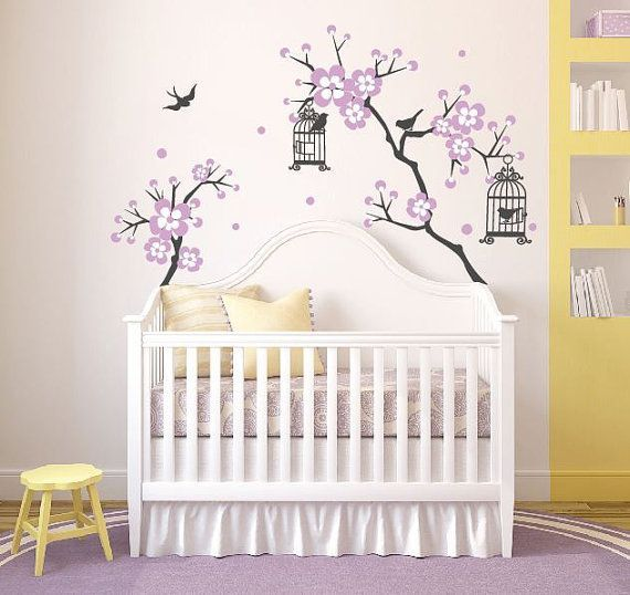 Superbe Baby Girl Room Decor Cherry Blossom Tree Wal Decal Wall Decals For Nursery  Wall Sticker Personalized Wall Decals DecalIsland Branches SD 048