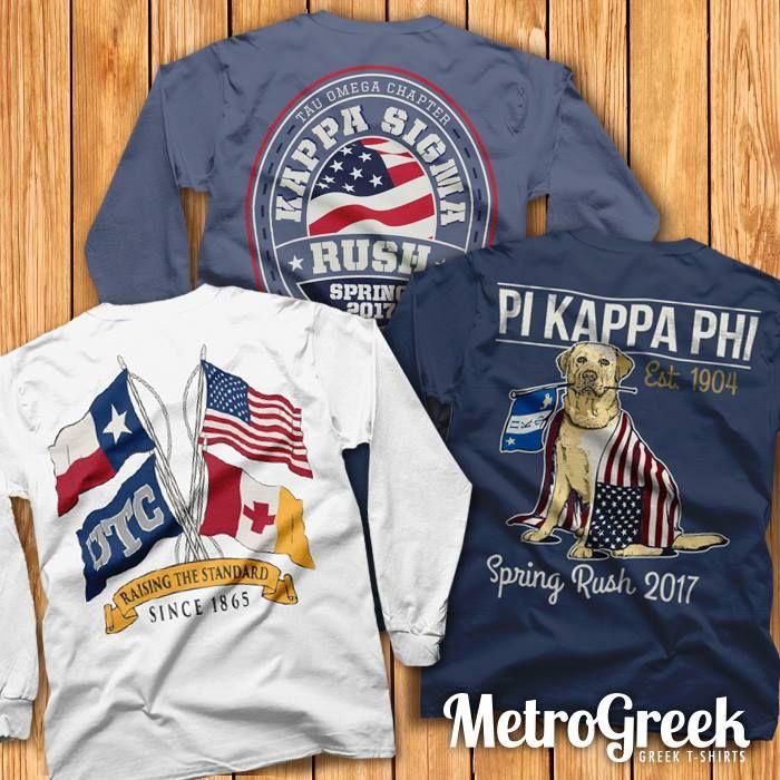 Fraternity T-shirts Americana T-shirts Greek T-shirts - americana sportswear