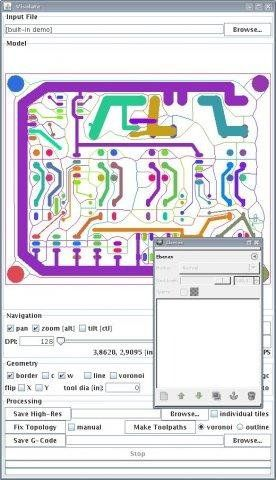 Screenshot of Visolate, a open source software to CNC milling PCB ...