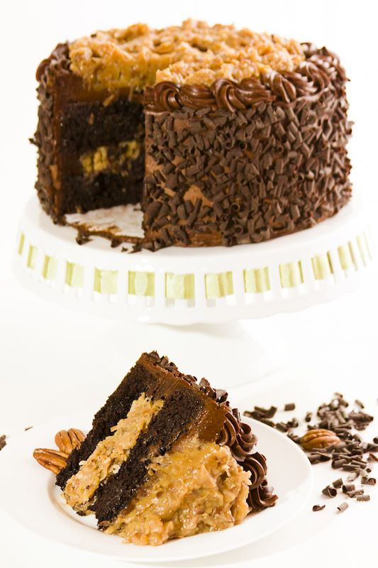 """Did you know that this is a German's Chocolate Cake, not a """"German Chocolate Cake""""? American chocolatier, Sam German, developed a dark baking chocolate that was used in the original recipe!  #themoreyouknow #germanschocolate #chocolatier #signature #cake #darkchocolate"""