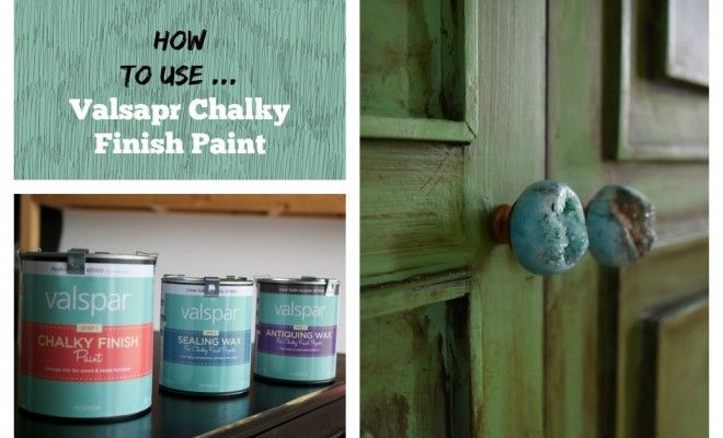 How To Use Valspar Chalky Finish Paint The Lindee Tree