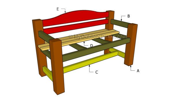 construire un banc dossier with bricoolage pinterest construire bancs et dossier. Black Bedroom Furniture Sets. Home Design Ideas