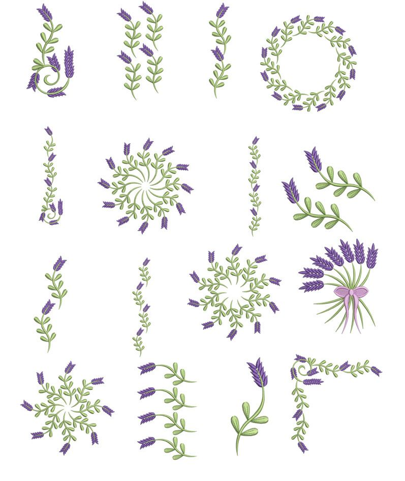 Lavender Embroidery Ideas For Sachets In 2018