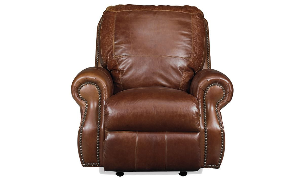 Electric Recliner Leather Chairs Rocky Mountain Leather Brandy Alligator Top Grain Power Recliner