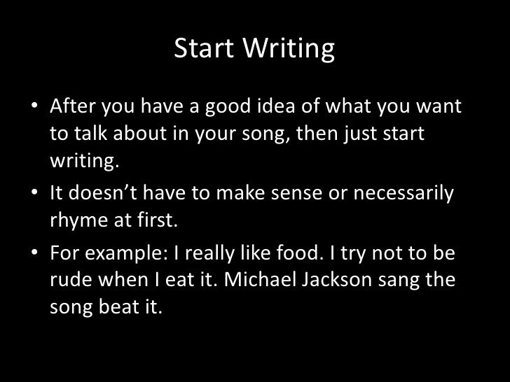 How To Write Hip Hop Song - The best expert\u0027s estimate Slot