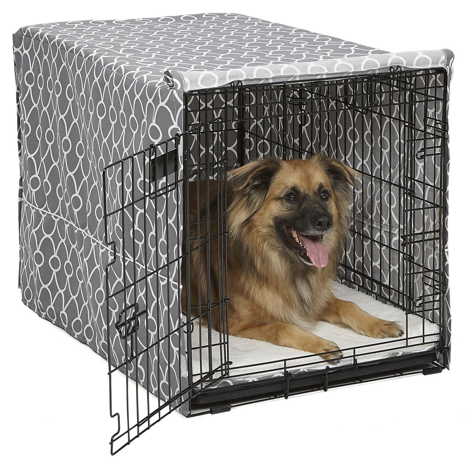 Midwest Quiet Time Defender Gray Crate Cover For Dogs 36 L In