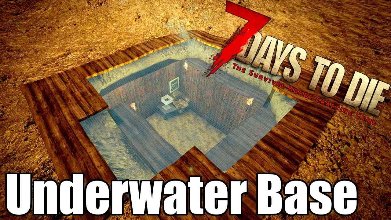 7 Days To Die Underwater Base Building With Glass Ceiling 7
